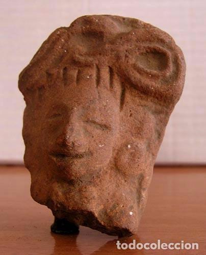 CABEZA FIGURA PRECOLOMBINA / TERRACOTA (Antigüedades - Varios)