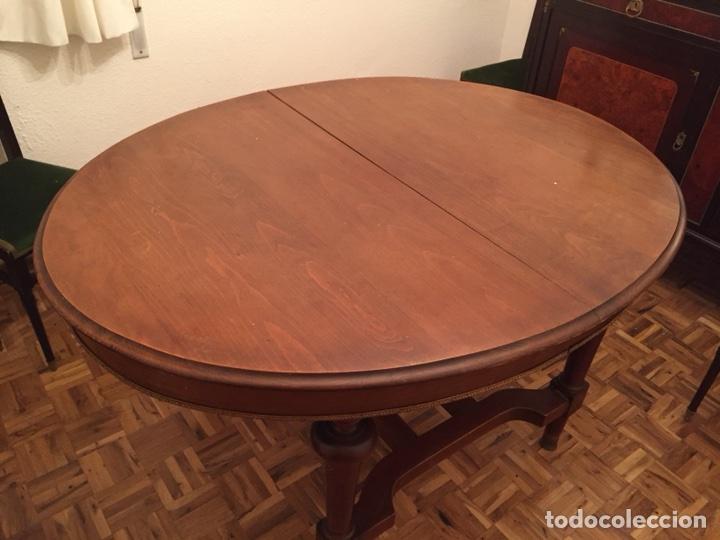 antigua mesa de comedor ovalada extensión color - Comprar Mesas ...