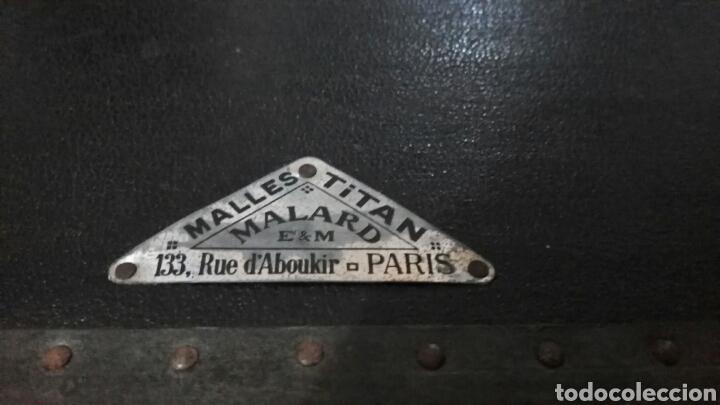Antigüedades: ANTIGUA MALETA CUADRADA DE PARIS MALLER TITAN MALARD - Foto 22 - 63134098