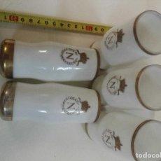 Vasos del Famoso cognac Napoleón de colección