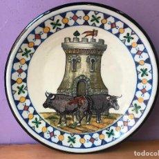 Antigüedades: ESCUDO DE TALAVERA PLATO FIRMADO EMILIO NIVEIRO EL CARMEN FABRICA DE LOZA TALAVERA DE LA REINA. Lote 104740875