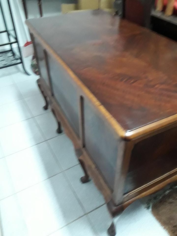 Antigüedades: Mesa de despacho en madera nogal - Foto 6 - 63682411