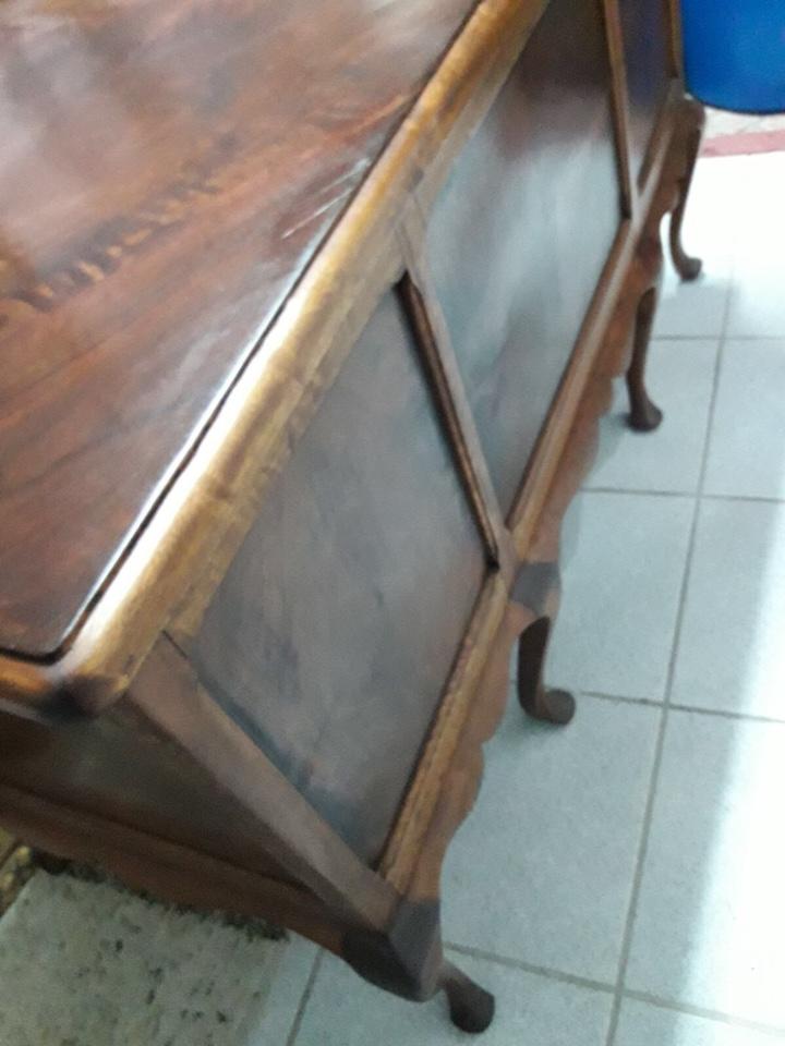 Antigüedades: Mesa de despacho en madera nogal - Foto 7 - 63682411