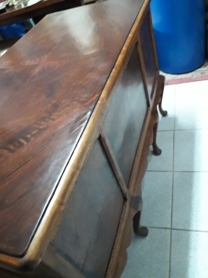 Antigüedades: Mesa de despacho en madera nogal - Foto 8 - 63682411
