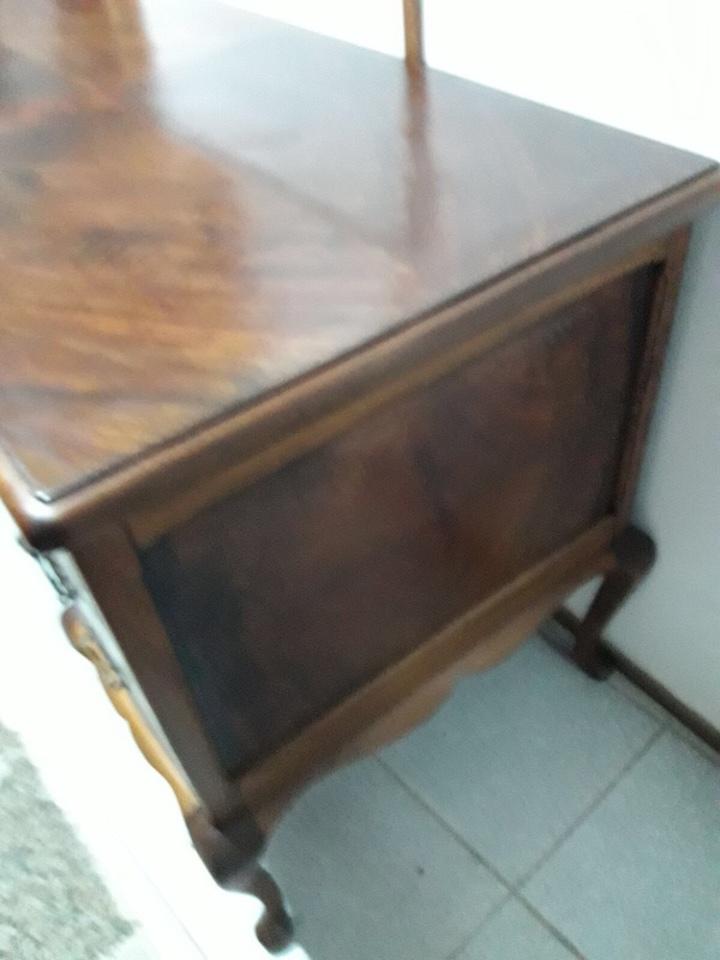 Antigüedades: Mesa de despacho en madera nogal - Foto 10 - 63682411