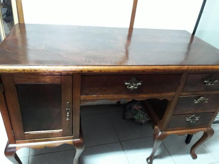 Antigüedades: Mesa de despacho en madera nogal - Foto 11 - 63682411