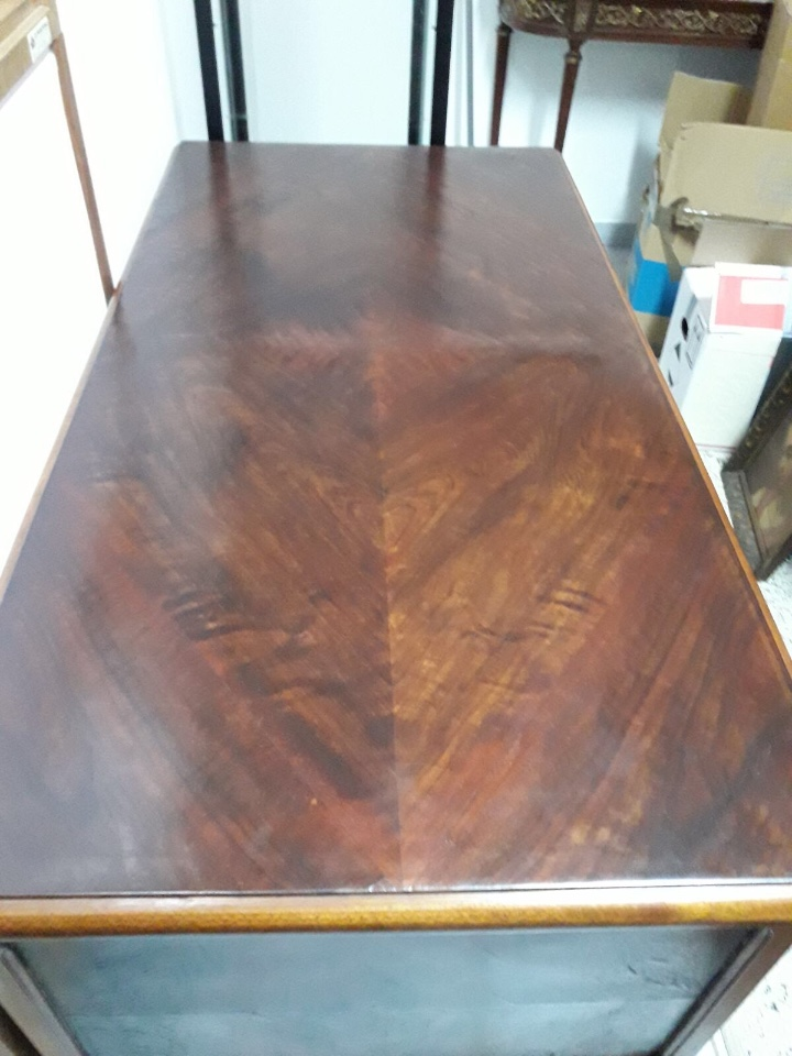 Antigüedades: Mesa de despacho en madera nogal - Foto 12 - 63682411