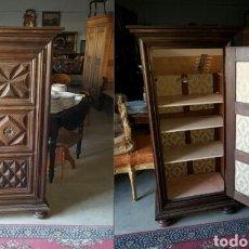 Antigüedades: ANTIGUO MUEBLE AUXILIAR EN MADERA DE ROBLE FRANCES. Lote 104744416