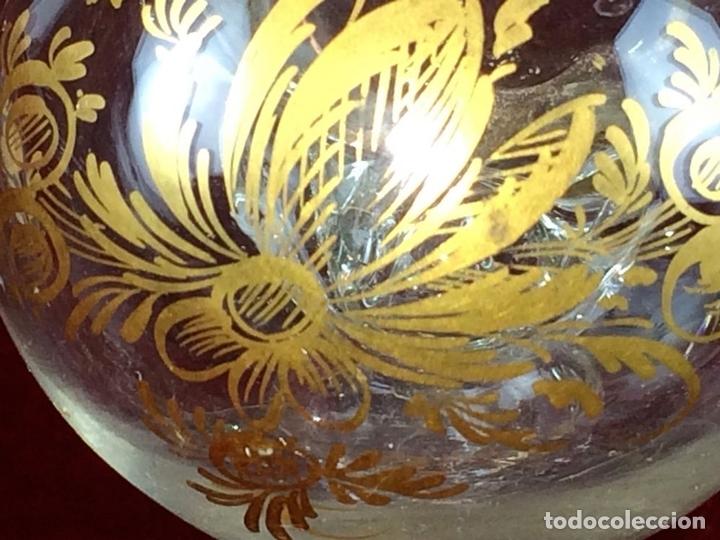 Antigüedades: VINAGRERAS (MATRIMONIO) CRISTAL DE LA REAL FÁBRICA DE LA GRANJA. ESPAÑA. XVIII - Foto 6 - 104773115