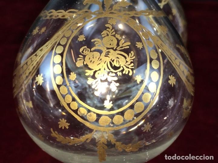 Antigüedades: VINAGRERAS (MATRIMONIO) CRISTAL DE LA REAL FÁBRICA DE LA GRANJA. ESPAÑA. XVIII - Foto 8 - 104776959