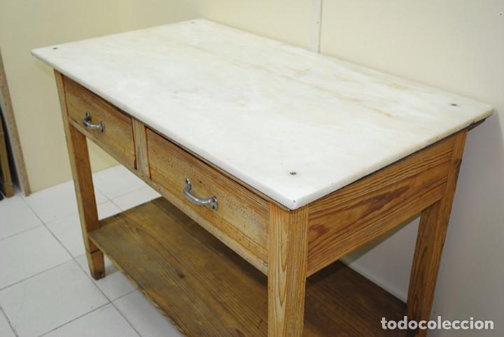 mesa de cocina antigua en madera - Comprar Mesas Antiguas en ...