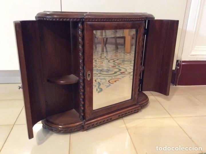 Mueble ba o botiquin madera comprar muebles auxiliares - Muebles bano antiguos ...