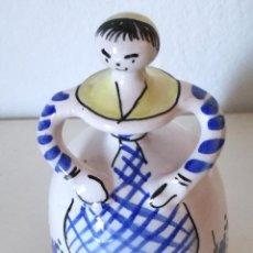Antigüedades: CAMPANA TALAVERA FORMA DE MUJER. Lote 104806487