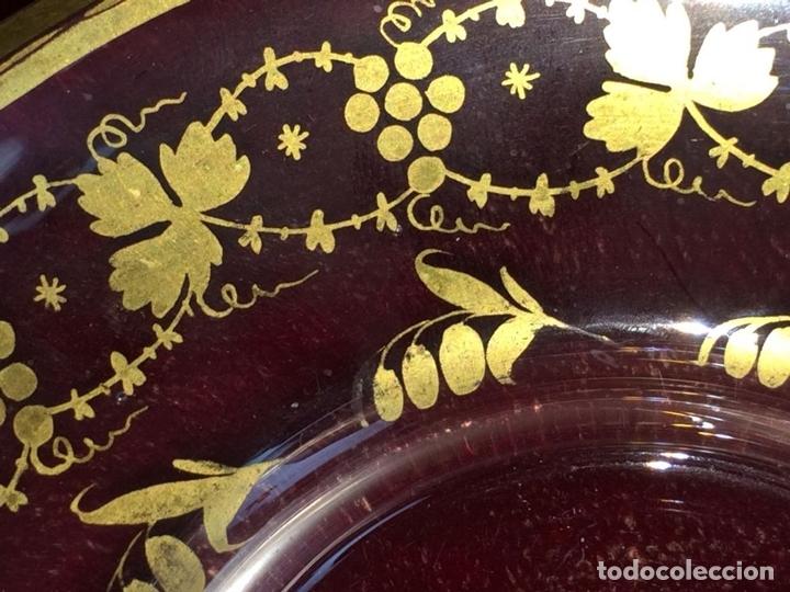 Antigüedades: COMPOTERA. CRISTAL. REAL FABRICA DE LA GRANJA. SOPLADO. TALLADO. DORADO. ESPAÑA. XVIII - Foto 14 - 104849691