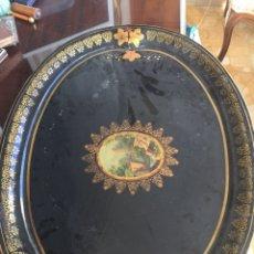 Antigüedades: BANDEJA MODERNISTA EN METAL Y LACADA. Lote 104854370
