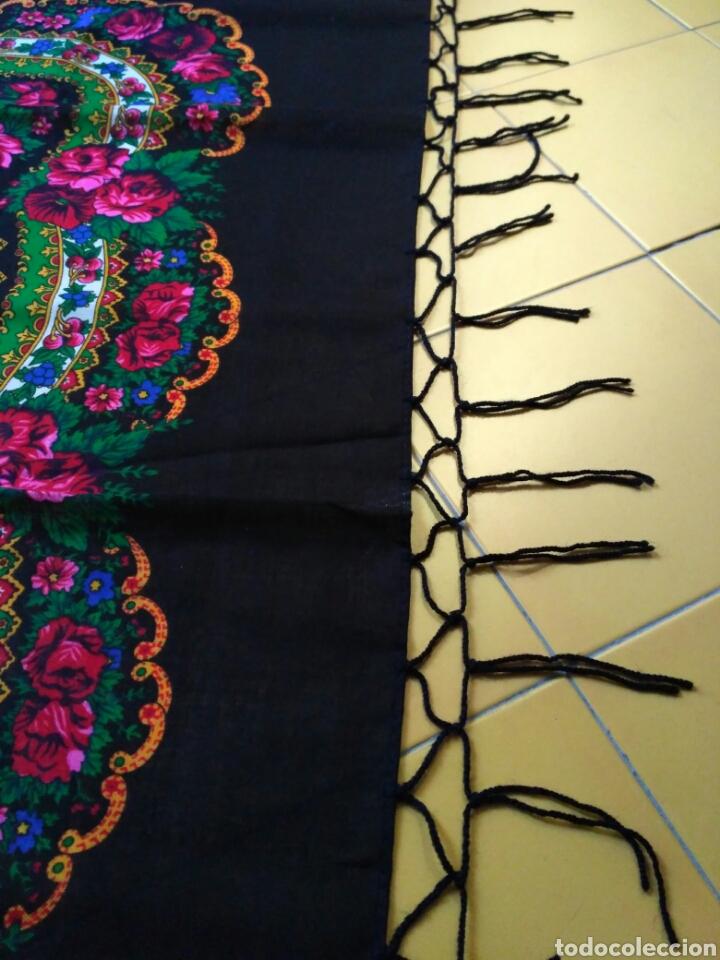 Antigüedades: Pañuelo de lana estampado - Foto 4 - 58256368