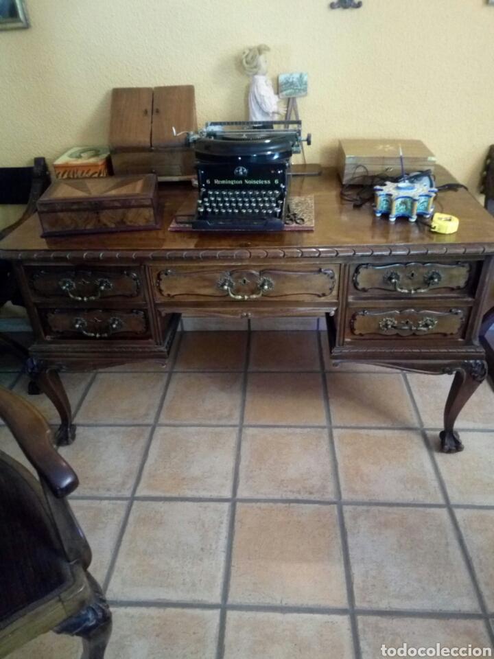 MESA DE DESPACHO CON SILLON, SIGLO XIX (Antigüedades - Muebles Antiguos - Mesas de Despacho Antiguos)