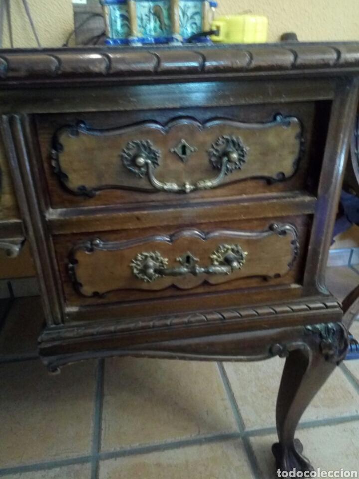 Antigüedades: Mesa de despacho con sillon, siglo XIX - Foto 2 - 104858359
