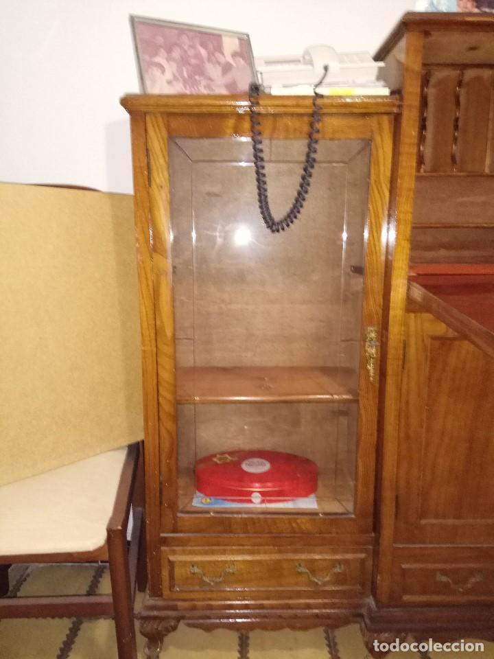 Antigüedades: Escritorio Bureau con muebles anexos. Todo es una unica pieza - Foto 2 - 104859535