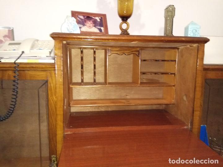 Antigüedades: Escritorio Bureau con muebles anexos. Todo es una unica pieza - Foto 3 - 104859535
