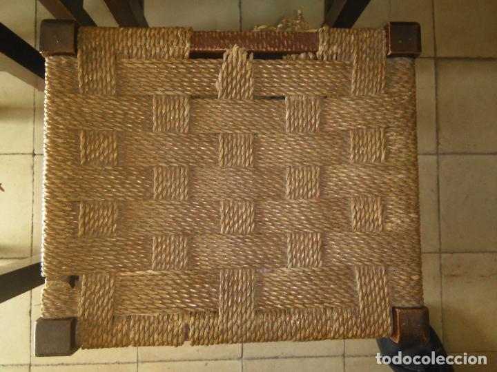 Antigüedades: 4 SILLAS ANTIGUAS TABURETES BANQUETAS TABURETAS DE NEA O ENEA PARA RESTAURAR 44 CM ALTURAL - LEER - Foto 2 - 104863463