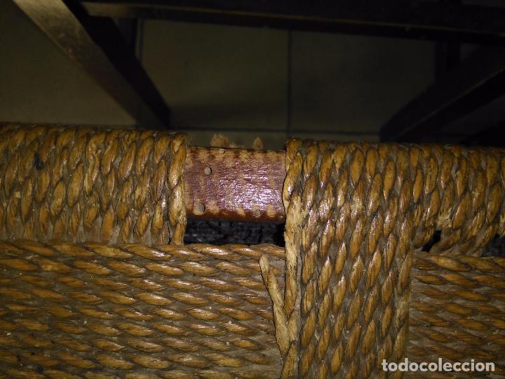 Antigüedades: 4 SILLAS ANTIGUAS TABURETES BANQUETAS TABURETAS DE NEA O ENEA PARA RESTAURAR 44 CM ALTURAL - LEER - Foto 6 - 104863463