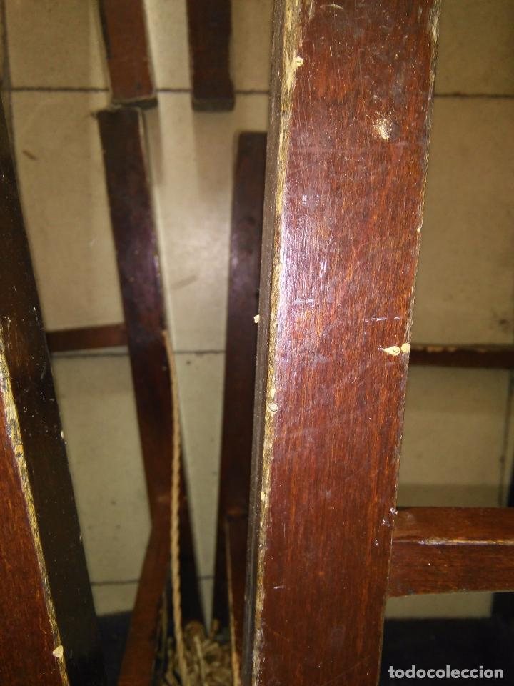 Antigüedades: 4 SILLAS ANTIGUAS TABURETES BANQUETAS TABURETAS DE NEA O ENEA PARA RESTAURAR 44 CM ALTURAL - LEER - Foto 11 - 104863463