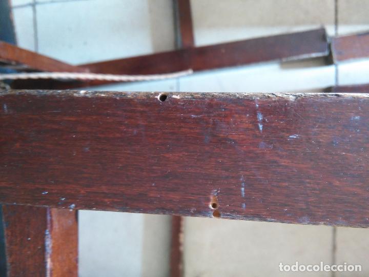 Antigüedades: 4 SILLAS ANTIGUAS TABURETES BANQUETAS TABURETAS DE NEA O ENEA PARA RESTAURAR 44 CM ALTURAL - LEER - Foto 14 - 104863463