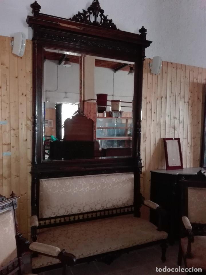 Antigüedades: TRESILLO ESTILO Y EPOCA ALFONSINO - Foto 3 - 104866315