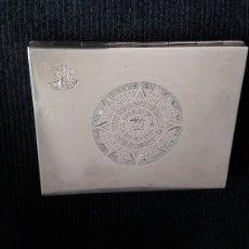 Antigüedades: CAJA O PITILLERA DE PLATA 1 DE LEY 925. 9,3 CM X 7.3 CM. PESO: 150 GR. NO SE ENVÍA. ENTREGA EN MANO. Lote 104873155