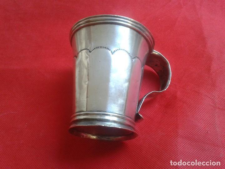 Antigüedades: Jarra de plata maciza ( 800 ) Siglo XIX - Hecha a mano - Prov. Buenos Aires ( Argentina ) - Gaucho - Foto 3 - 104873755