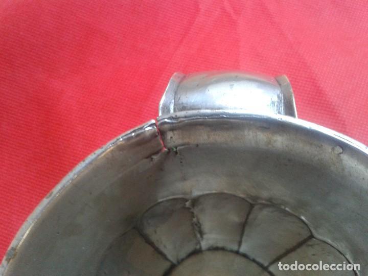 Antigüedades: Jarra de plata maciza ( 800 ) Siglo XIX - Hecha a mano - Prov. Buenos Aires ( Argentina ) - Gaucho - Foto 5 - 104873755