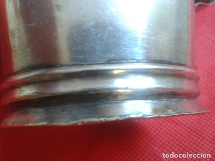 Antigüedades: Jarra de plata maciza ( 800 ) Siglo XIX - Hecha a mano - Prov. Buenos Aires ( Argentina ) - Gaucho - Foto 6 - 104873755