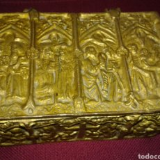 Antigüedades: ANTIGUO COFRE EN BRONCE. Lote 104877767