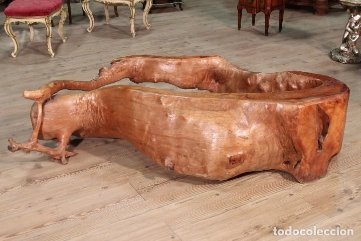 Antigüedades: Florero indonesiano en raíz de manglar - Foto 2 - 104880535