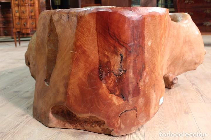 Antigüedades: Florero indonesiano en raíz de manglar - Foto 14 - 104880535