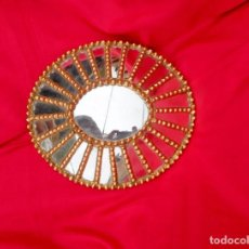 Antigüedades: ESPEJO DORADO TALLADO EN MADERA CEDRO. Lote 104882091
