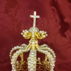 Antigüedades: PRECIOSA CORONA PARA VIRGEN O SANTA. Lote 114265408