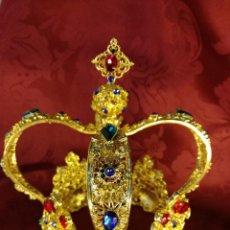 Antigüedades: PRECIOSA CORONA PARA VIRGEN O SANTA. Lote 111814472