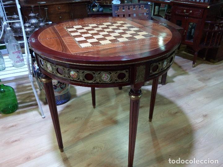 Antigüedades: Mesa ajedrez/consola estilo Luis XVI - Foto 2 - 104889499