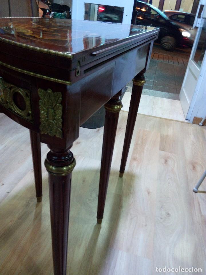 Antigüedades: Mesa ajedrez/consola estilo Luis XVI - Foto 5 - 104889499