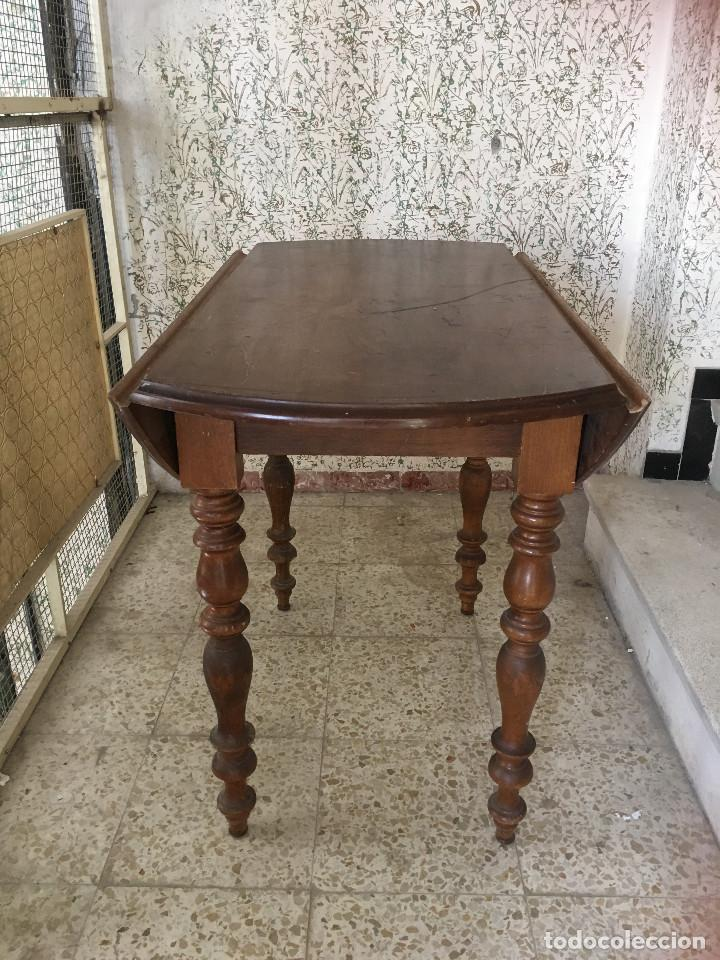 MESA DE ALAS MADERA DE ROBLE (Antigüedades - Muebles Antiguos - Mesas Antiguas)