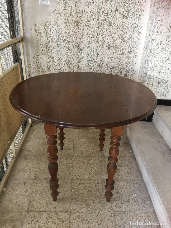 Antigüedades: MESA DE ALAS MADERA DE ROBLE - Foto 2 - 104904735