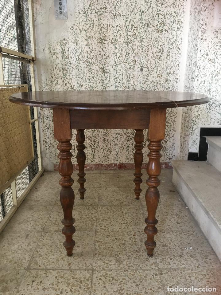 Antigüedades: MESA DE ALAS MADERA DE ROBLE - Foto 3 - 104904735