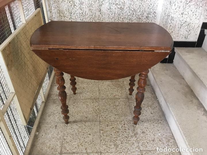 Antigüedades: MESA DE ALAS MADERA DE ROBLE - Foto 7 - 104904735