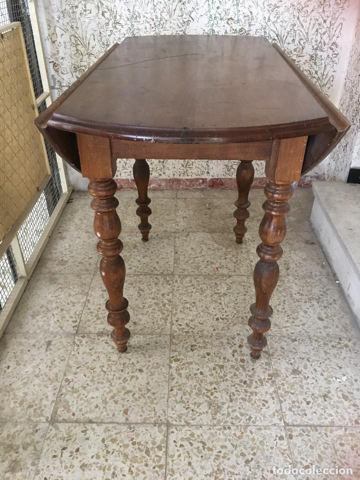 Antigüedades: MESA DE ALAS MADERA DE ROBLE - Foto 8 - 104904735
