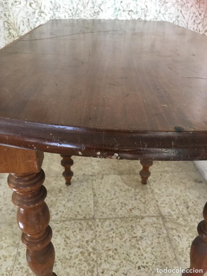 Antigüedades: MESA DE ALAS MADERA DE ROBLE - Foto 9 - 104904735