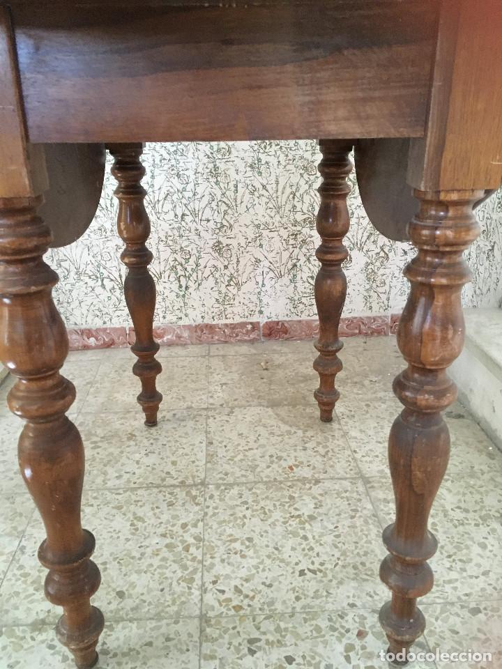 Antigüedades: MESA DE ALAS MADERA DE ROBLE - Foto 10 - 104904735