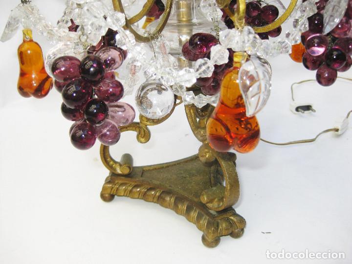 Antigüedades: EXCEPCIONAL LAMPARA ANTIGUA BRONCE Y CRISTALES DE BOHEMIA XVIII , ALTA DECORACION - Foto 3 - 104911847