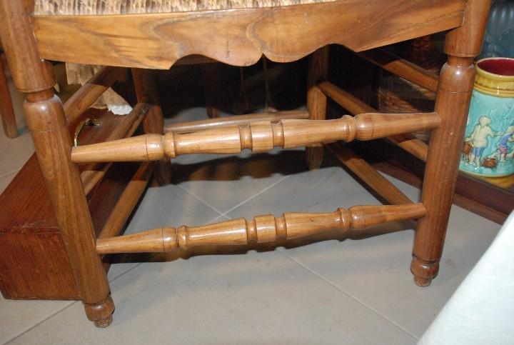Antigüedades: MUY BONITA PAREJA DE SILLAS BUTACAS DE ROBLE CON ASIENTO DE ENEA - Foto 5 - 104942007